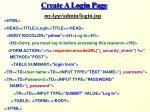 create a login page
