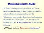 declarative security basic12