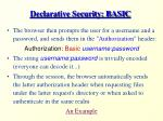 declarative security basic13