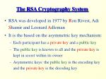 the rsa cryptography system