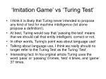imitation game vs turing test