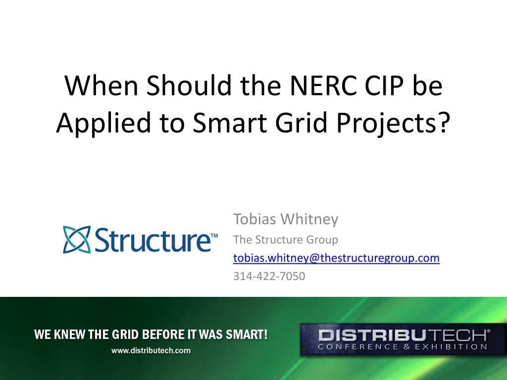 when should the nerc cip be applied to smart grid projects l.