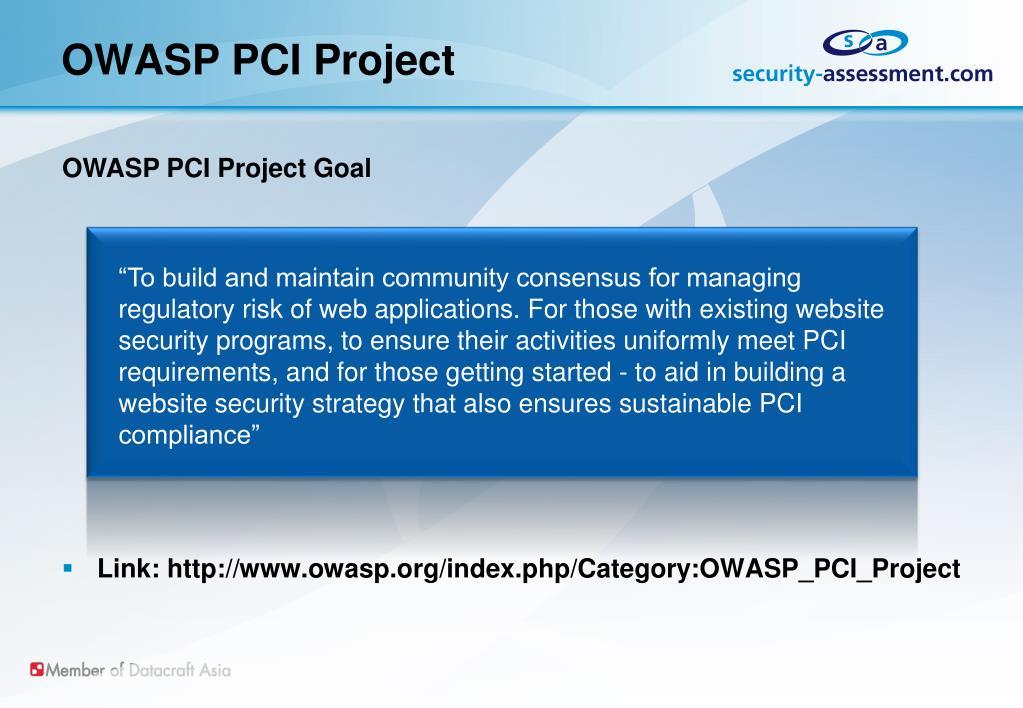 OWASP PCI Project