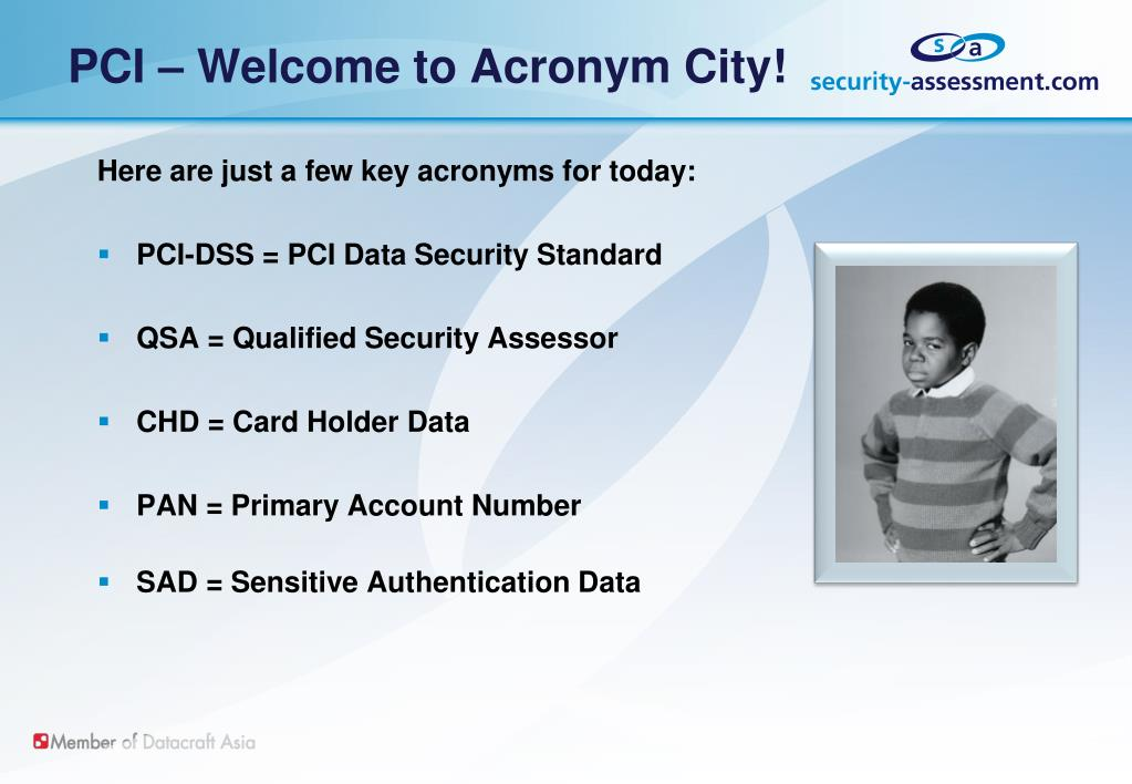 PCI – Welcome to Acronym City!