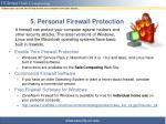 5 personal firewall protection