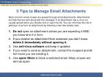 5 tips to manage email attachments