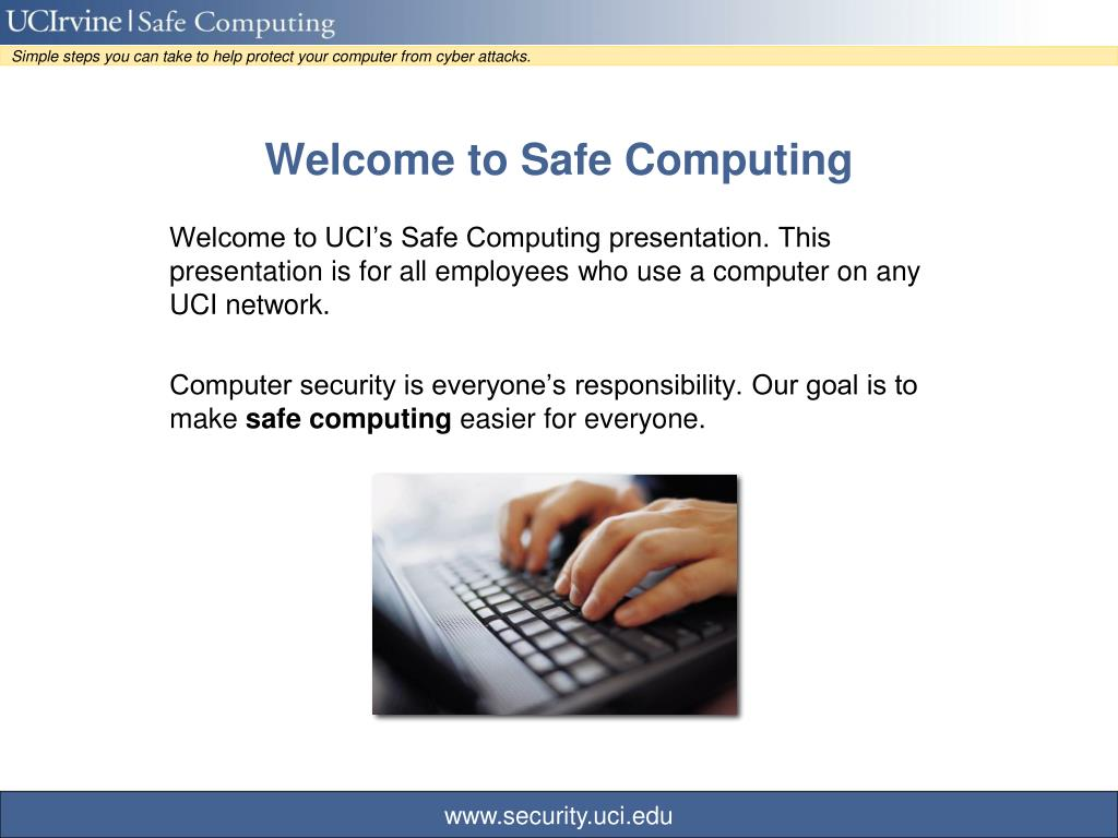 welcome to safe computing l.