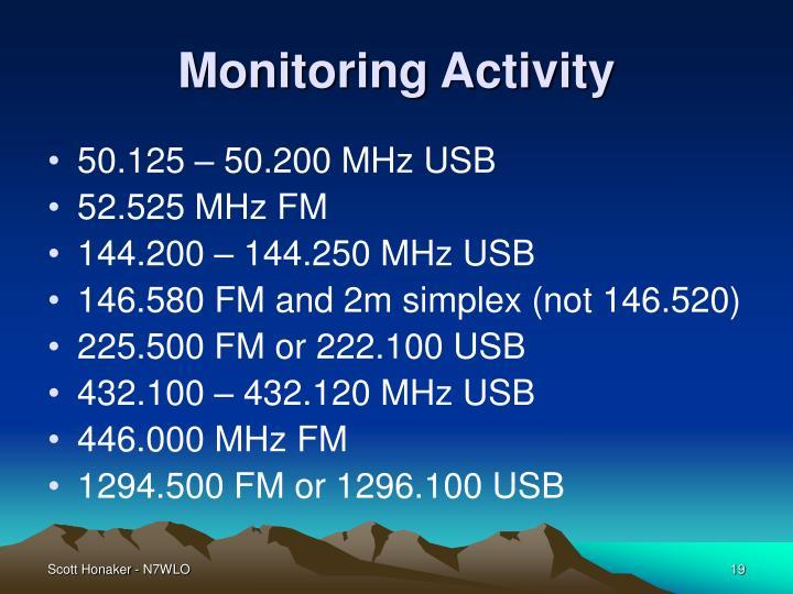 Monitoring Activity