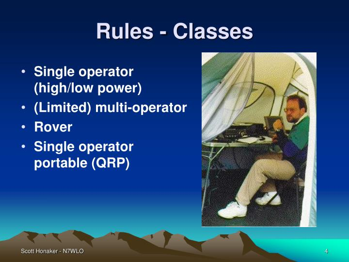 Rules - Classes