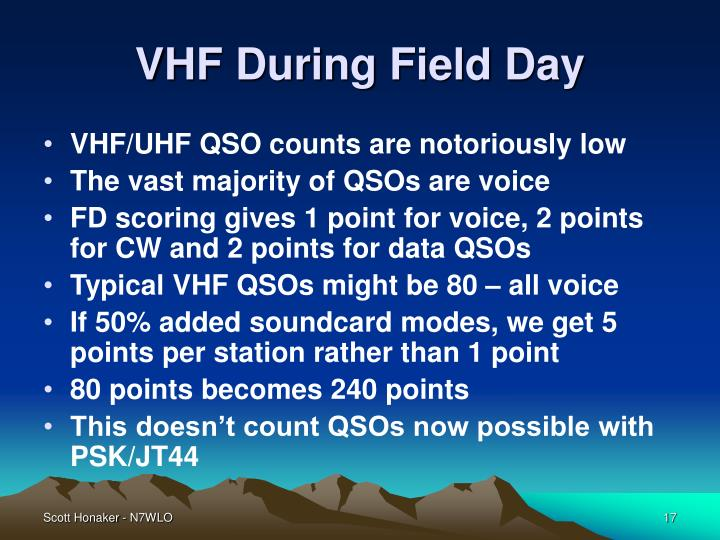 VHF During Field Day