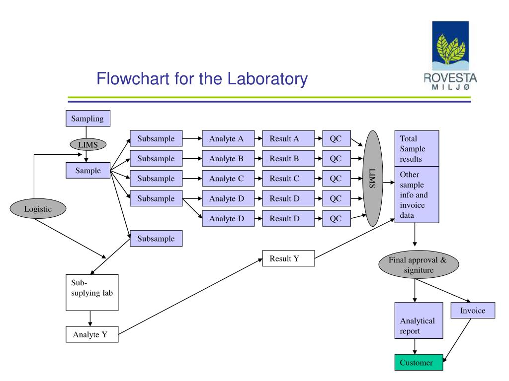 flowchart for the laboratory l.