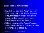 black hats v white hats