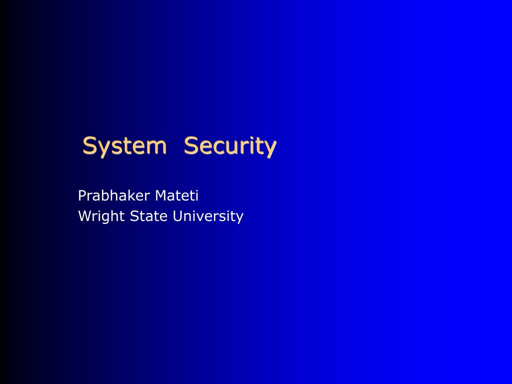system security l.