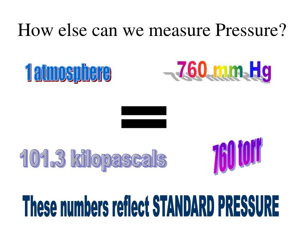 How else can we measure Pressure?