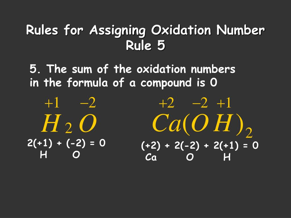 assigning oxidation number