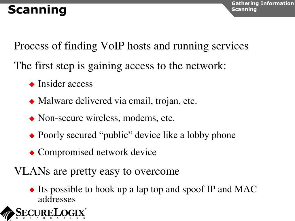 Gathering Information Scanning