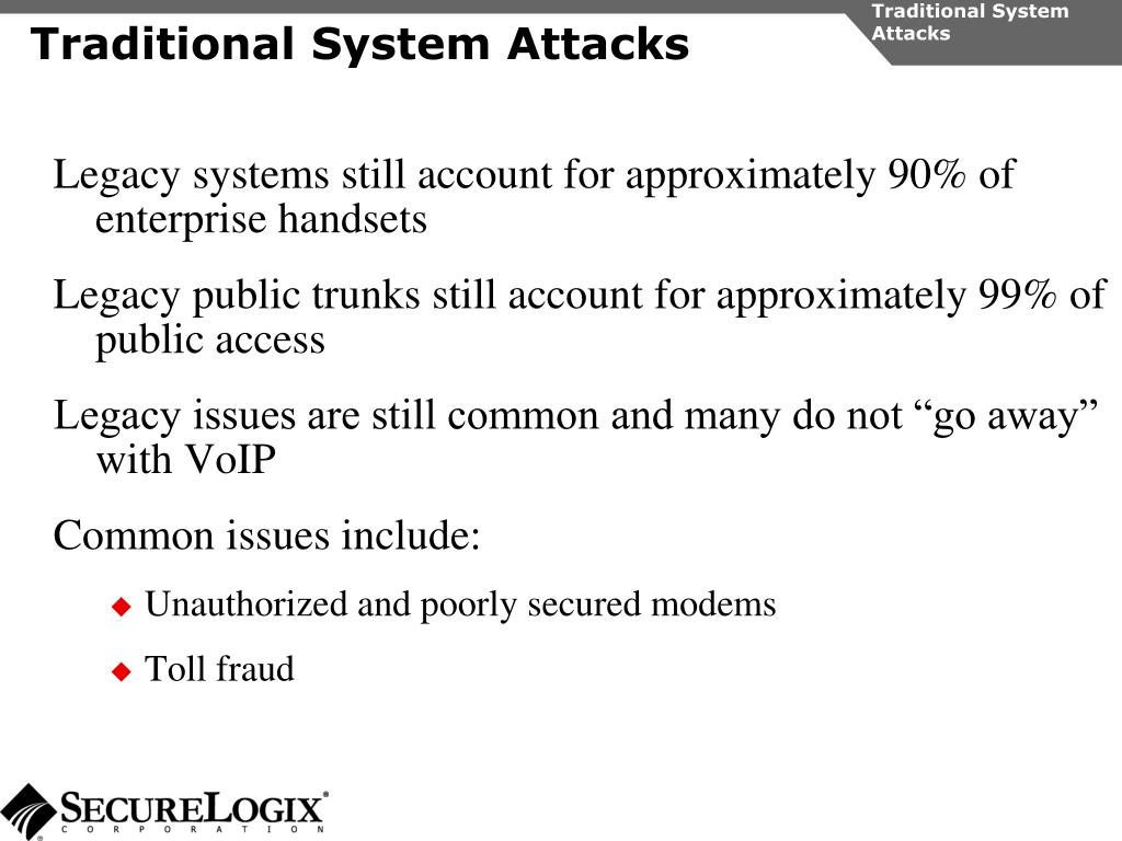 Traditional System