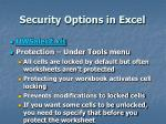 security options in excel