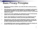 basic privacy principles