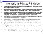 international privacy principles