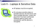 lock it laptops sensitive data