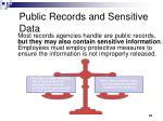 public records and sensitive data