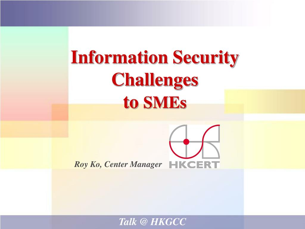 information security challenges to smes l.