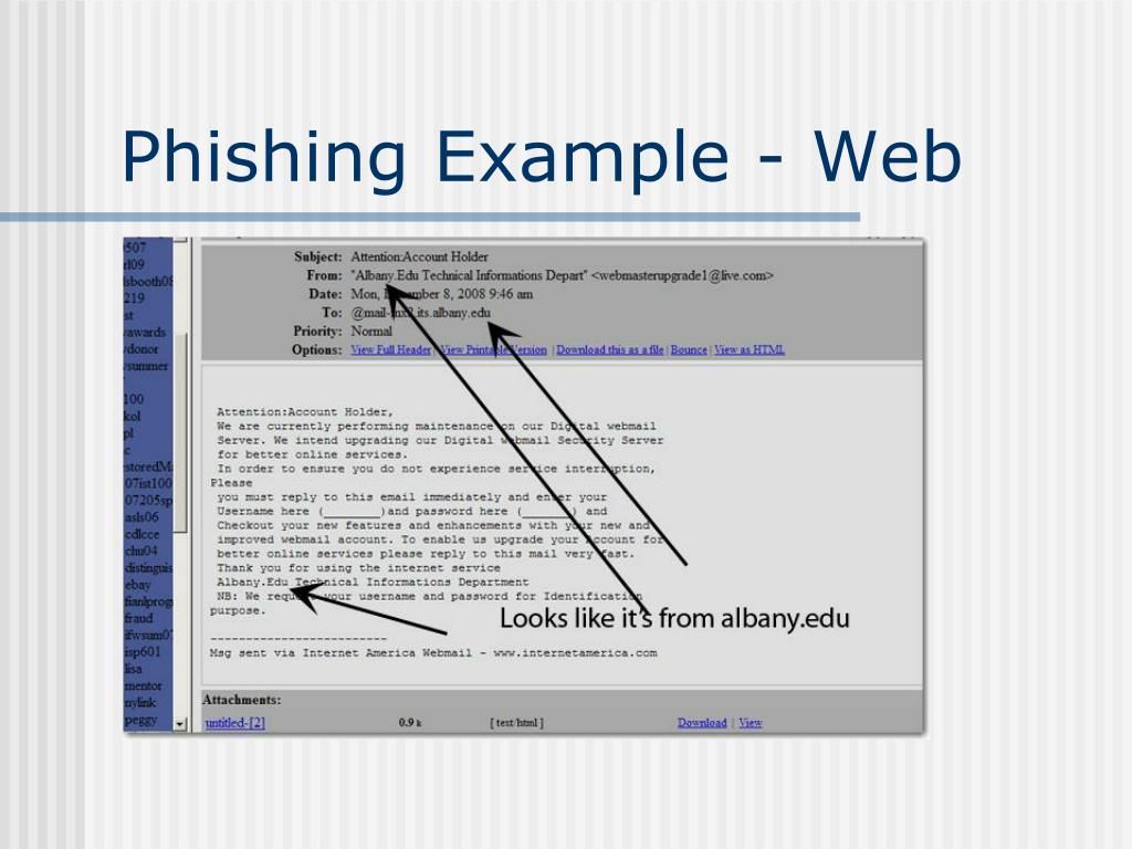 Phishing Example - Web