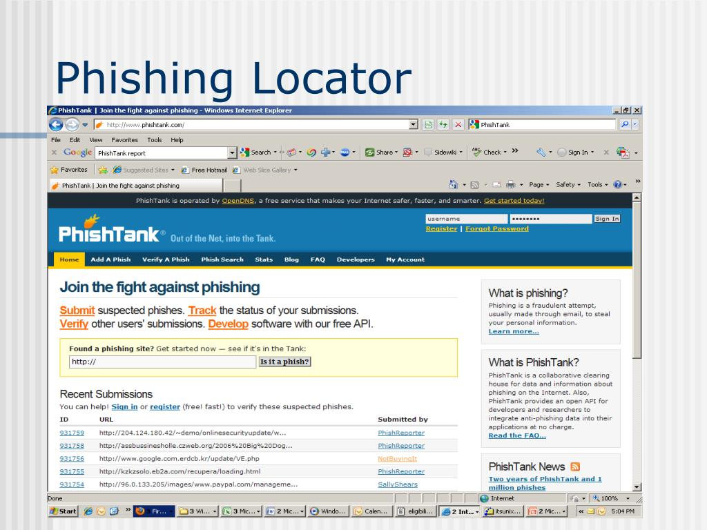 Phishing Locator