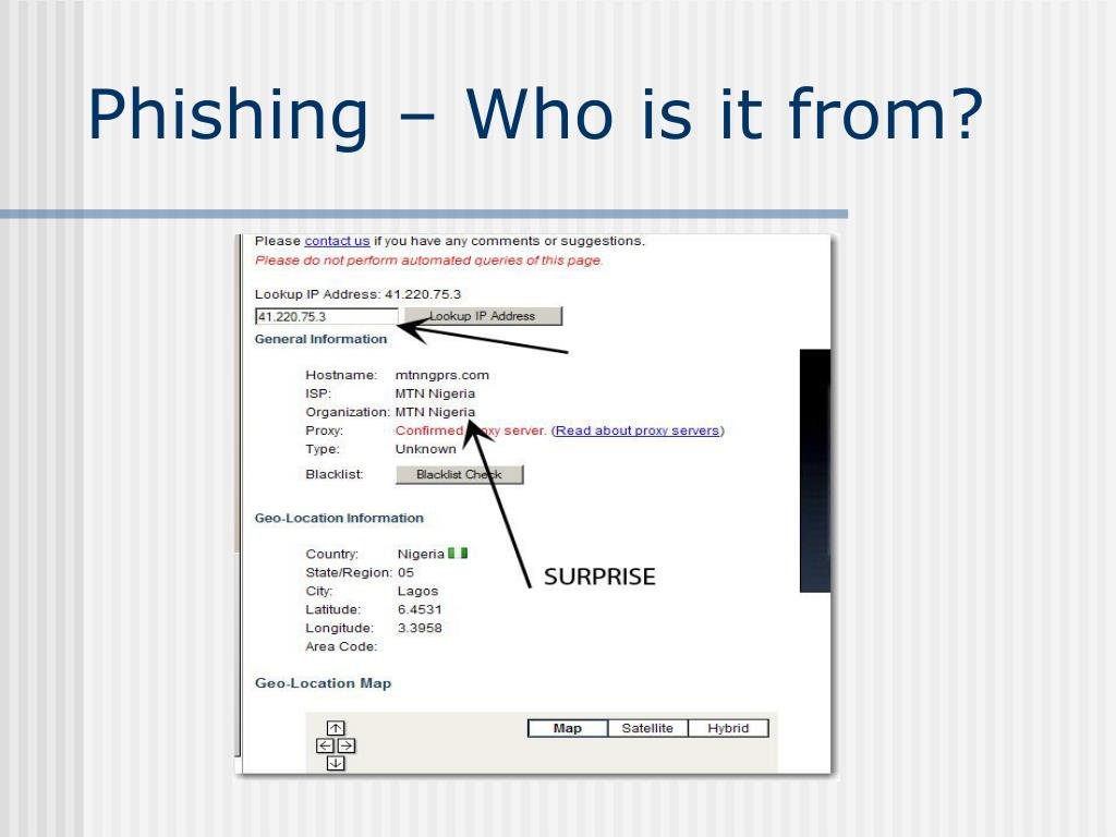 Phishing – Who is it from?