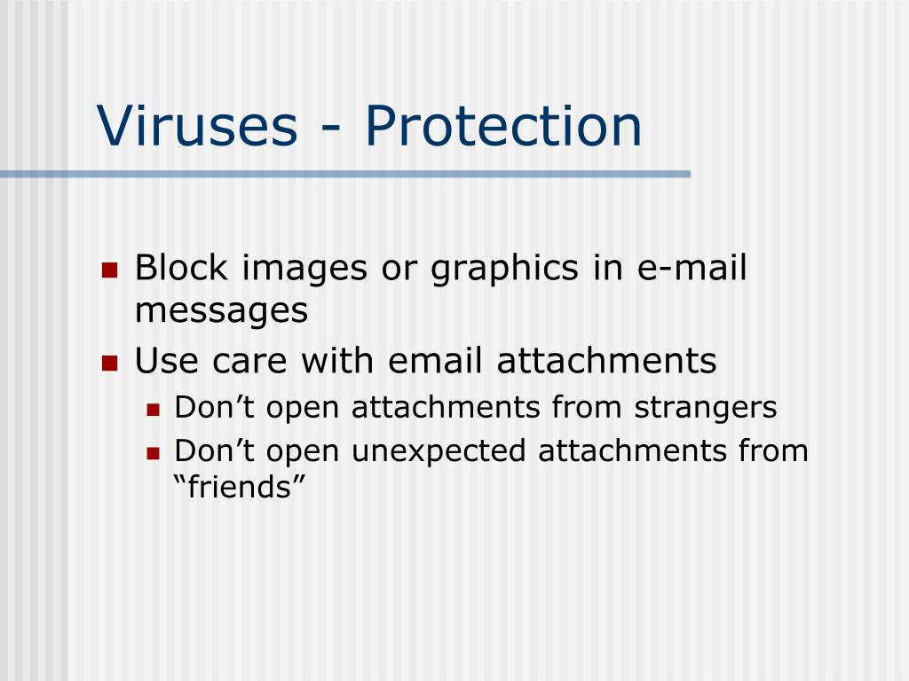 Viruses - Protection