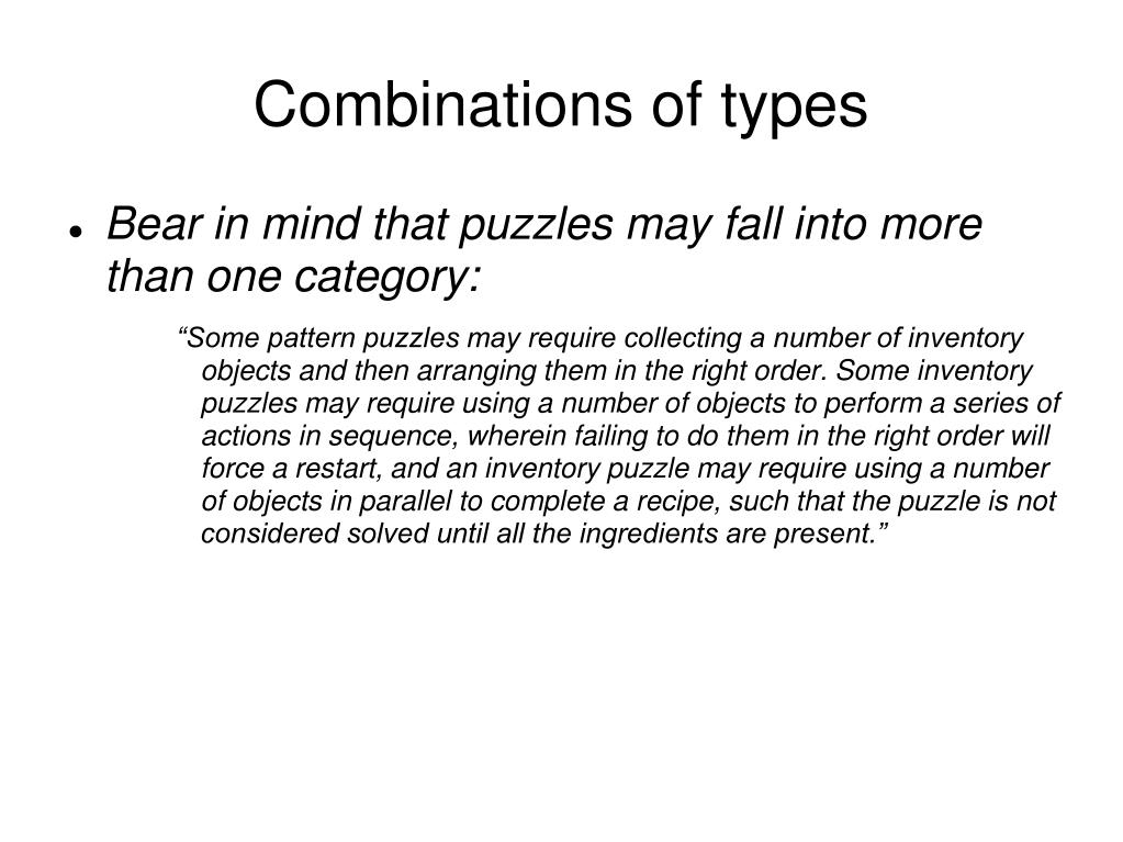 Combinations of types