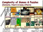 complexity of games puzzles demaine hearn many others