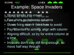 example space invaders
