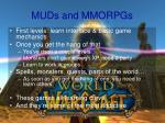 muds and mmorpgs