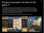 europa universalis the facts of the game i