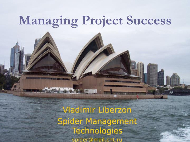 managing project success n.