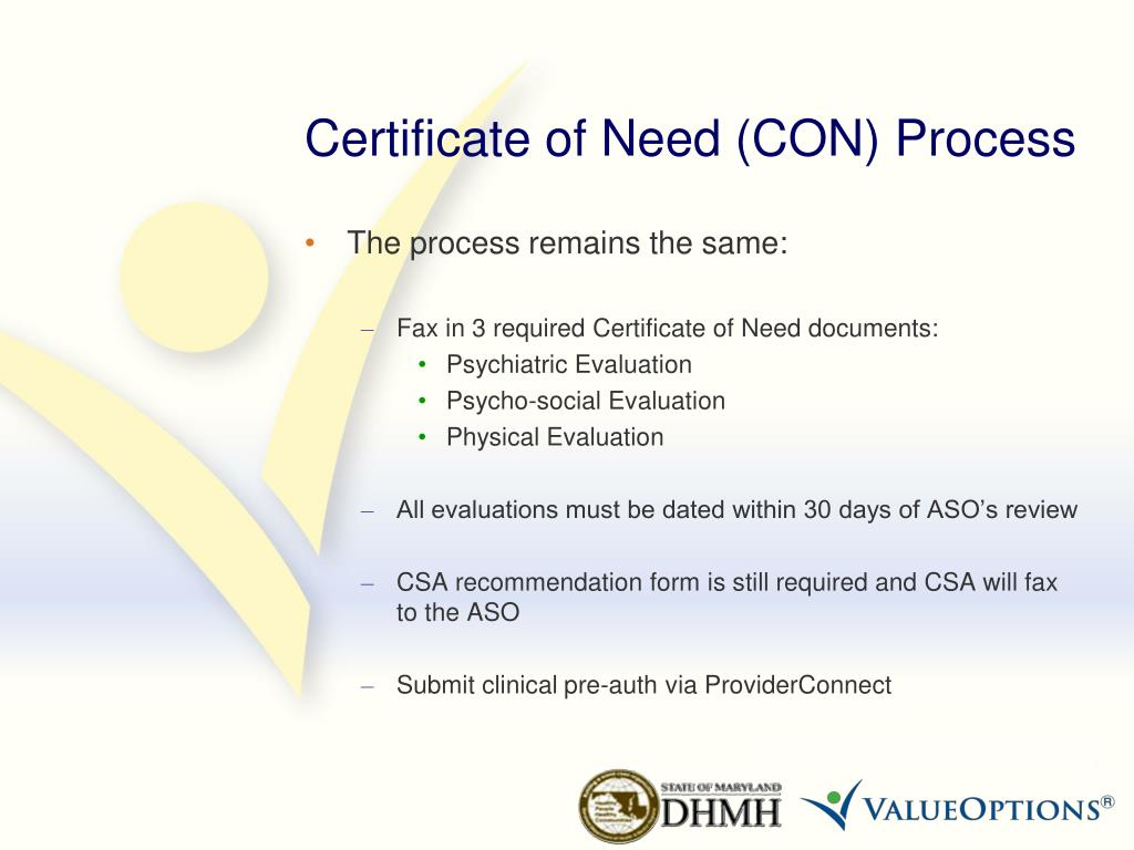 Certificate of Need (CON) Process