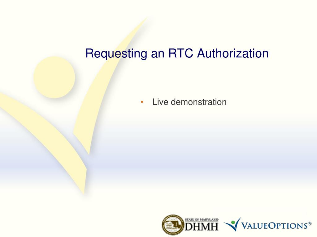 Requesting an RTC Authorization