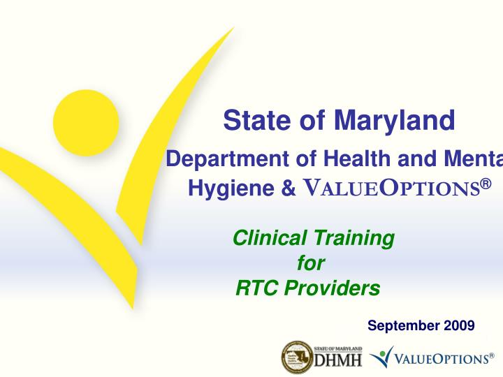 State of maryland department of health and mental hygiene v alue o ptions