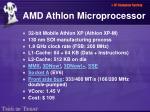amd athlon microprocessor