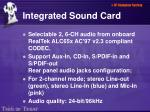 integrated sound card