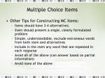 multiple choice items21