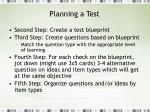 planning a test7