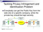 tackling privacy infringement and identification problem31