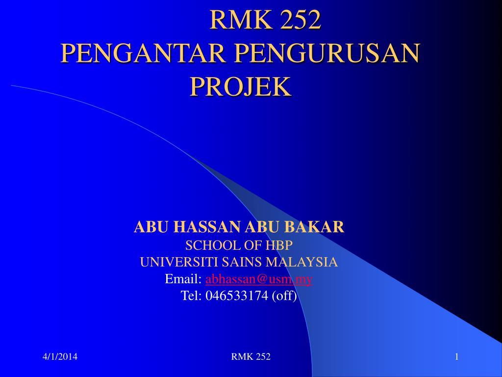 rmk 252 pengantar pengurusan projek l.