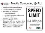 mobile computing @ ru
