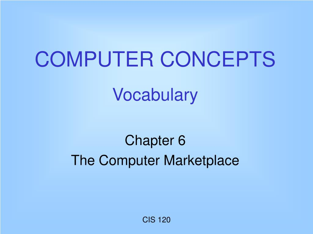 computer concepts vocabulary l.