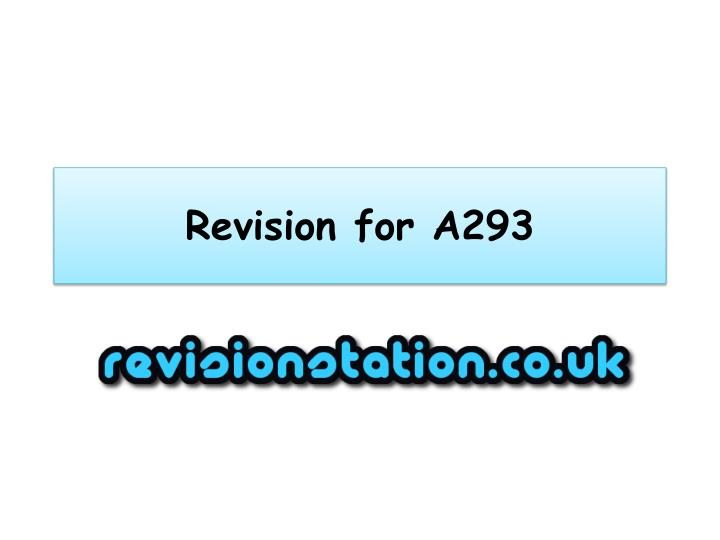 revision for a293 n.