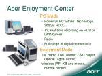 acer enjoyment center